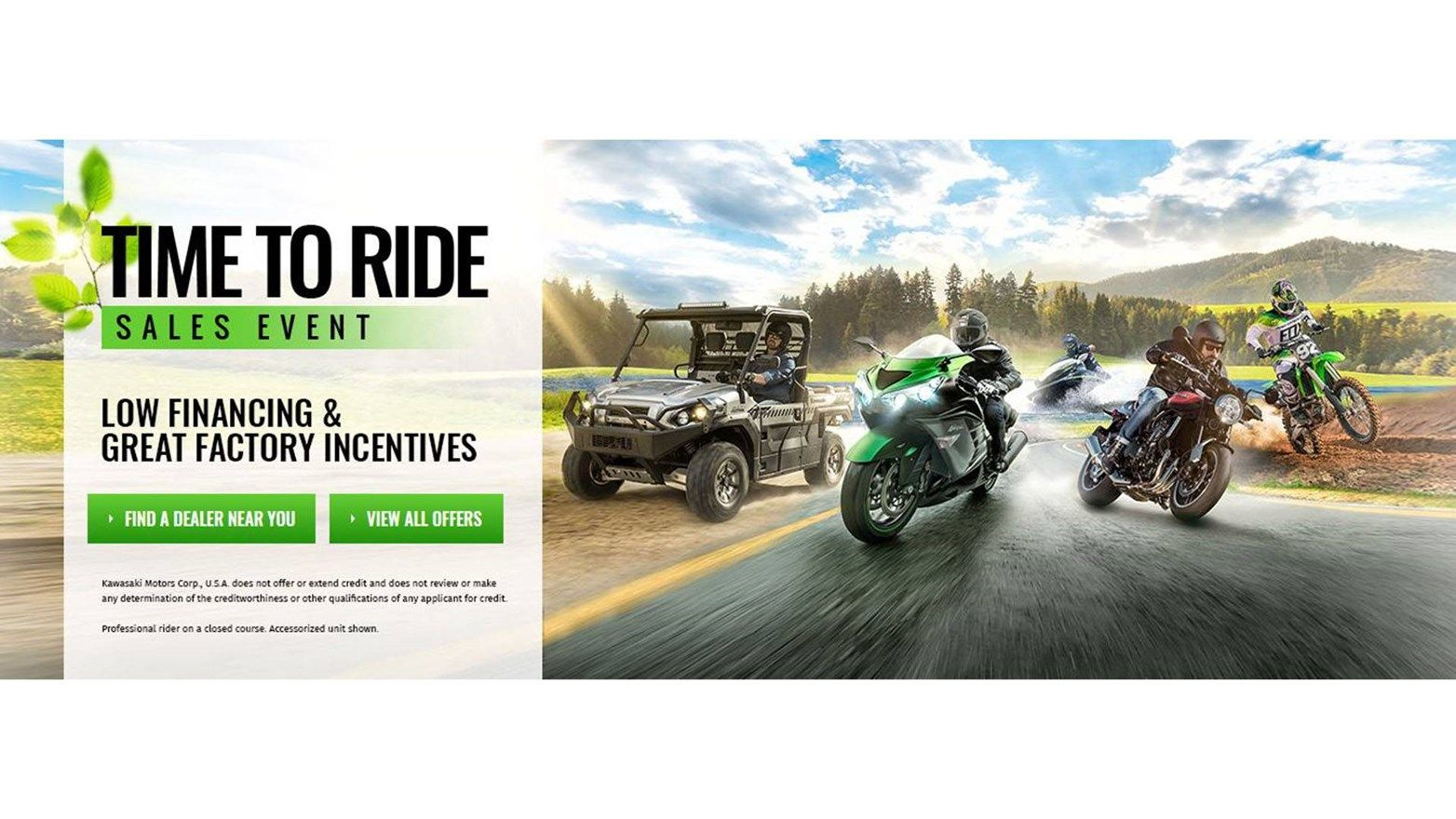 Kawasaki - Time To Ride Sales Event