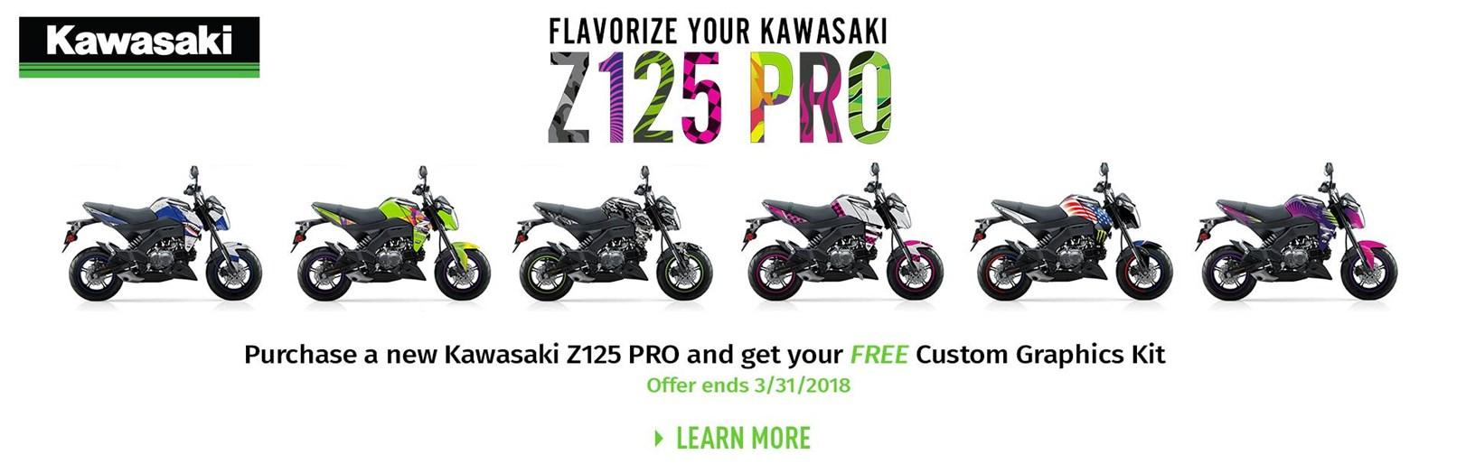 Kawasaki - Z125 Pro GET A FREE CUSTOM GRAHICS KIT